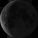 Abnehmende Mondsichel